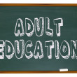Adult Education - Chalkboard - Stock Photo