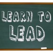 Stock Photo: Learn to Lead - Chalkboard