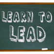 Learn to Lead - Chalkboard - Stock Photo