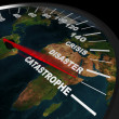Speeding toward Global Catastrophe - Stock Photo
