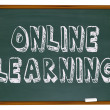 Online Learning - Chalkboard — 图库照片