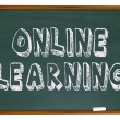Online Learning - Chalkboard — Foto de Stock