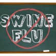 Royalty-Free Stock Photo: No Swine Flu - Chalkboard