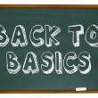 Back to Basics - Chalkboard - Stock Photo