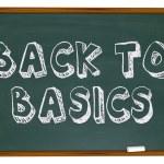 Back to Basics - Chalkboard — Stock Photo