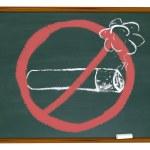 No Smoking Symbol on Chalkboard — Stock Photo