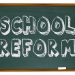 Foto Stock: School Reform - Chalkboard
