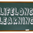 Lifelong Learning - Chalkboard - Foto de Stock