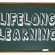 Lifelong Learning - Chalkboard — Foto de Stock