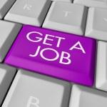 Get a Job Computer Key — Stock Photo