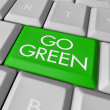 Go Green Computer Key - Stock Photo