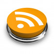 RSS Symbol - Orange Button — Stock Photo