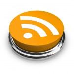 RSS Symbol - Orange Button — Stock Photo
