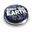 Save the Earth Button — Stock Photo