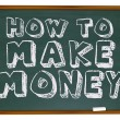Stock Photo: How to Make Money - Chalkboard