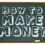 How to Make Money - Chalkboard — Stock Photo