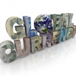 Global Currency - World and Money on Letters — Stock Photo