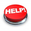 Help - Red Button — Stock Photo