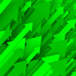 Stock Photo: Green Arrow Background - Solid