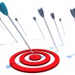 Stock Photo: Hitting the Bulls Eye