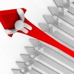 Riding Up the Growth Arrow - Angle — Stock Photo