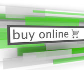 Buy Online Bar - Website Shopping Cart — Stock Photo