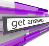 Get Answers - Website Bar — Stock Photo
