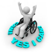 Determined Wheelchair Person - Yes I Can — Stok fotoğraf