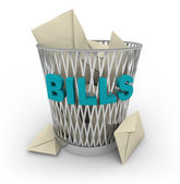 Trash Can for Bills — Stock Photo
