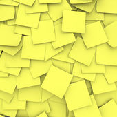 Sfondo giallo sticky notes — Foto Stock