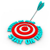 Stay on Target - Arrow and Red Rings — Stock Photo