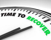 Time to Recover - Clock — Stock Photo