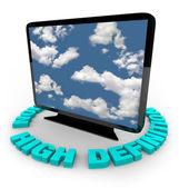 Televisão de hdtv - alta definição — Foto Stock