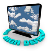 HDTV Television - High Definition — Stock Photo