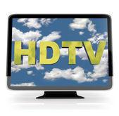 HDTV Flatscreen Display on White — Stock Photo