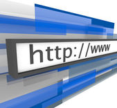 Website Address Bar - http and www — Stock Photo