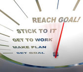 Speedometer - Reaching Your Goal — Stock Photo