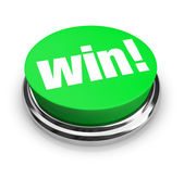 Win - Green Button — Stock Photo