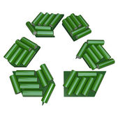 Recycling Symbol Made of Batteries — Stock Photo