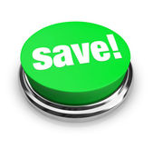 Save - Green Button — Stock Photo