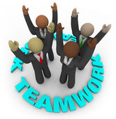 Teamwork - Team Members in Circle — Stock Photo