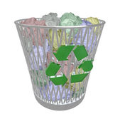 Recycle Bin - Colored Paper — Stock Photo