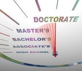 Excesso de velocidade através de graus de faculdade — Foto Stock