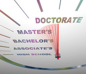 Speeding through College Degrees — Stok fotoğraf