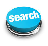 Search - Blue Button — Stock Photo