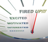 Speedometer - Fired Up! — Stock Photo
