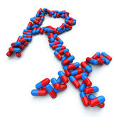 RX - Pharmacy Symbol - Capsule Pills — Stock Photo