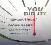 Motivational Speedometer - You Did It — Stockfoto