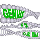 Genius is in Our DNA — Stock Photo