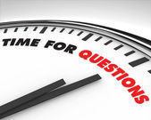 Time for Questions - Clock — Stock Photo